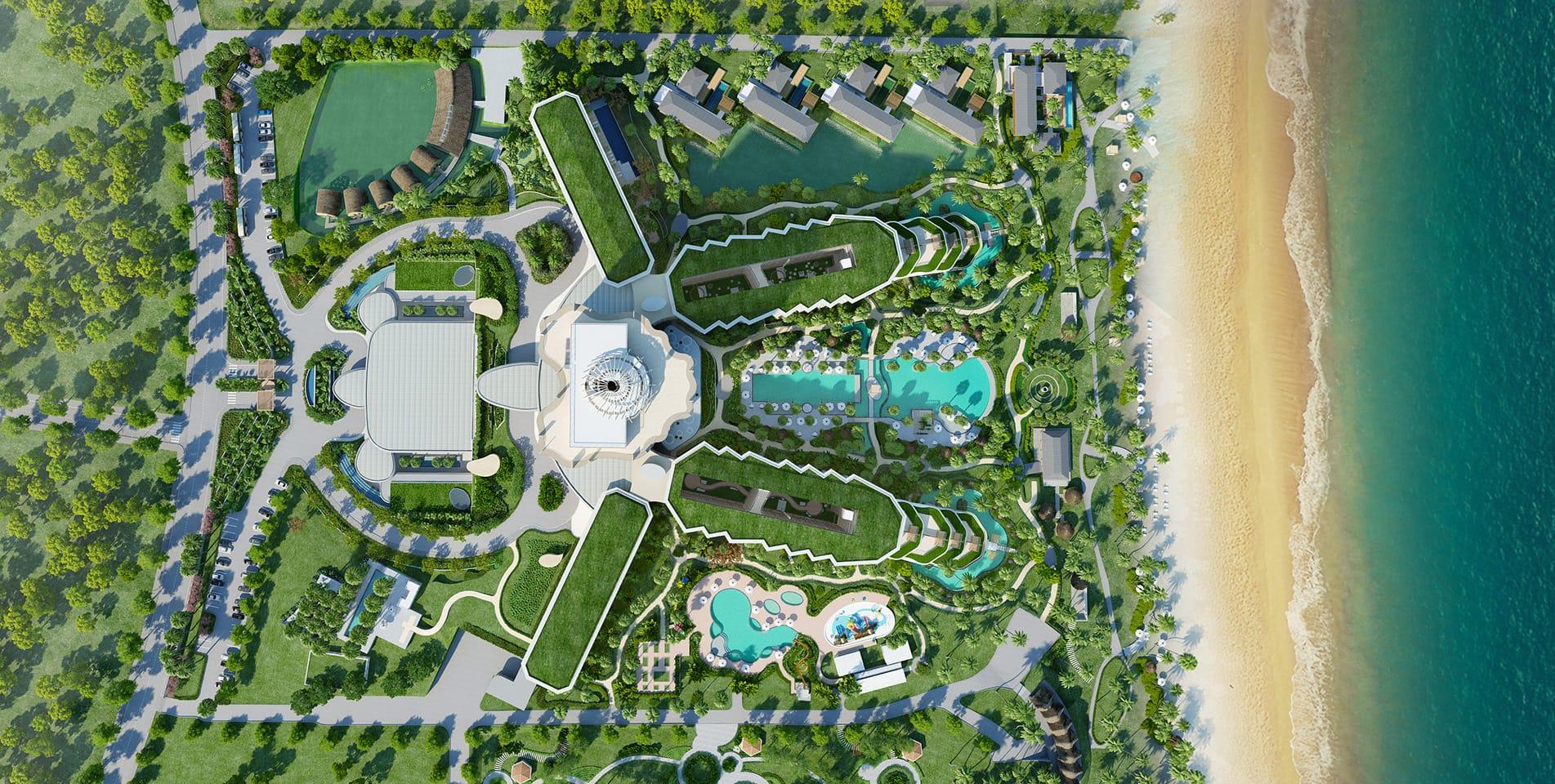 Resort Map Intercontinental Phu Quoc Long Beach Resort